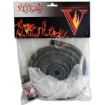Stove Rope Replacement Kit-8mm Dia.Black Fire Rope+Adhesive